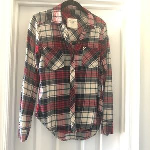 A&F Women's Plaid Flannel 🍂 Red Green White S